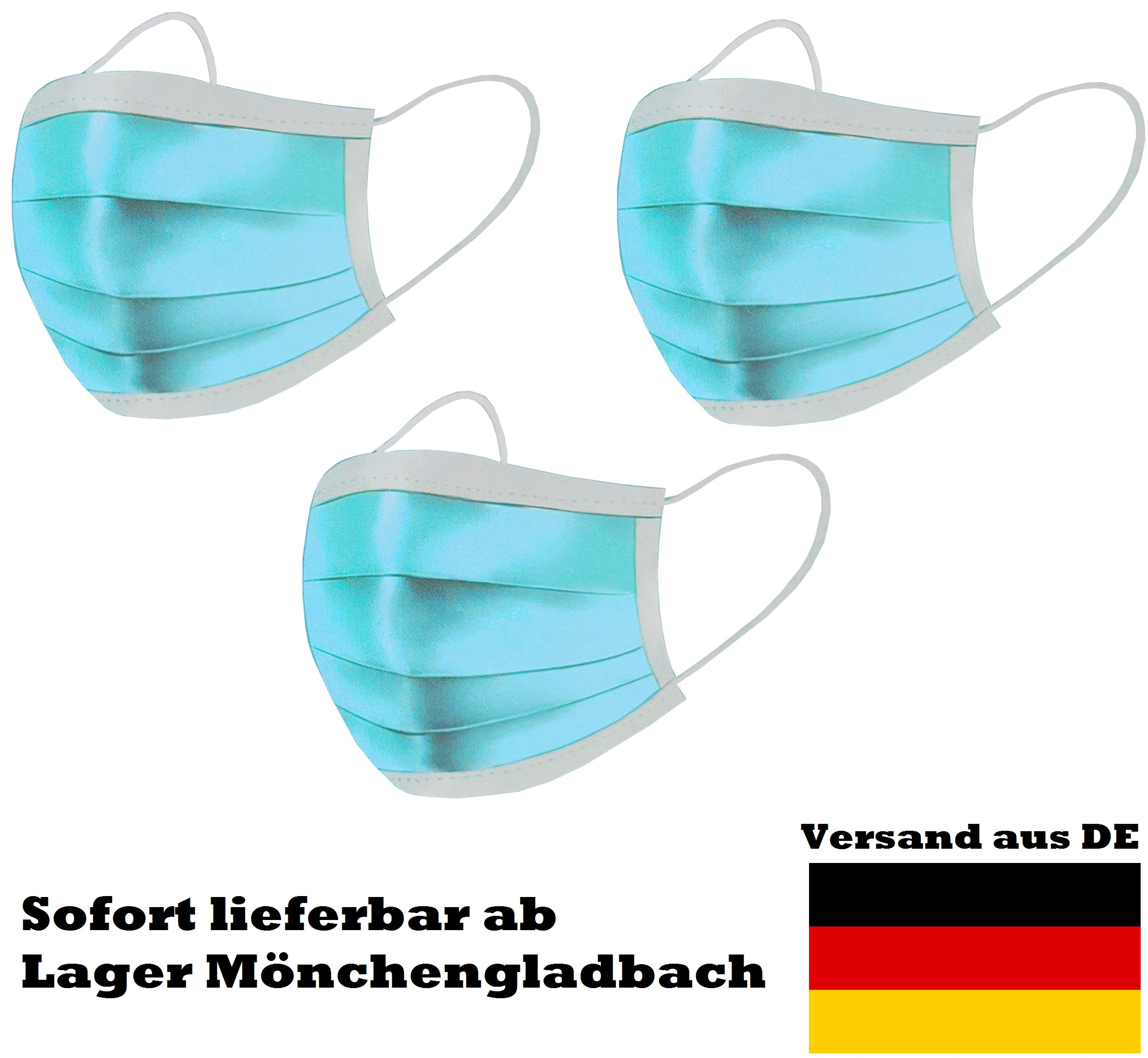 Einweg-Atemschutzmaske 3-Lagig 50 Stück - Crossfer GmbH