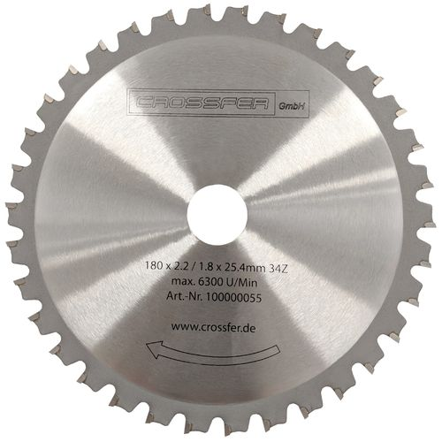 TCT saw blade for metalworking 180mm 180x3,1x2,0x25,4mm 34T