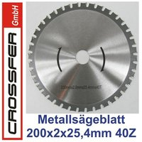 TCT saw blade for metalworking 200mm 200x2x25,4mm 40T 7600rpm