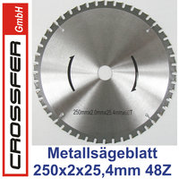 TCT Saw blade for metalworking 250mm 250x3,3x2,0x25,4mm 60T