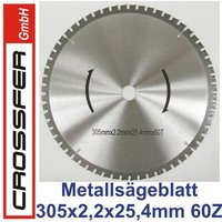 TCT Saw blade for metalworking 305mm 305x2,6x25,4mm 60T 3700rpm